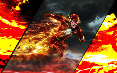 The Flash Collection Art Print by Marvin Blaine