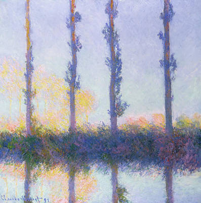 The Four Trees Art Print by Claude Monet