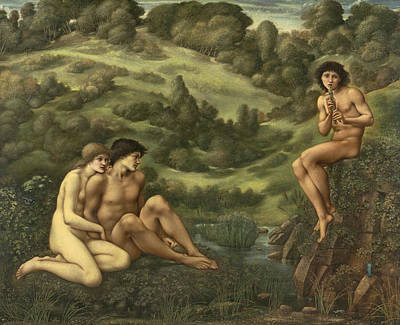 Classical Nude Painting - The Garden Of Pan  by Edward Burne-Jones