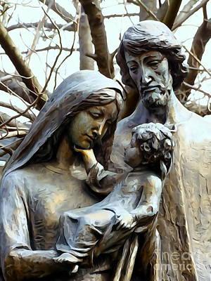 Digital Art - The Holy Family by Ed Weidman