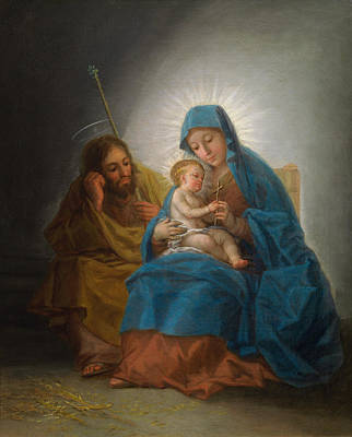 Madonna Painting - The Holy Family by Francisco Goya