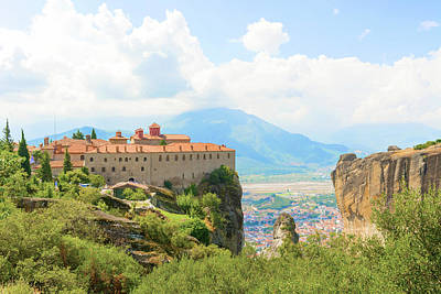 Photograph - The Holy Monastery Of St. Stephen, Meteora, Greece by Marek Poplawski