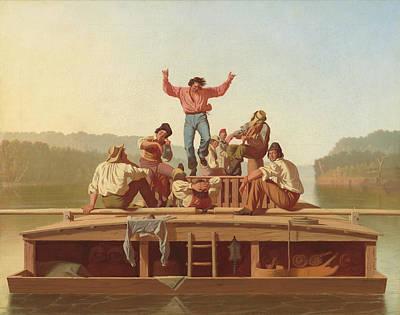 Painting - The Jolly Flatboatmen by George Caleb Bingham