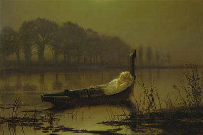 Photograph - The Lady Of Shalott by John Atkinson Grimshaw