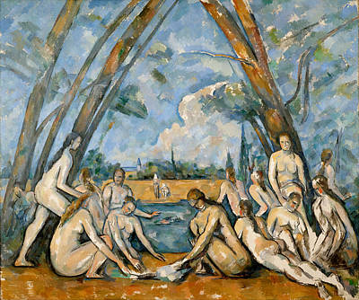 Bathing Painting - The Large Bathers by Paul Cezanne