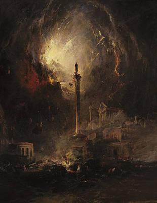 Pompeii Painting - The Last Days Of Pompeii by James Hamilton