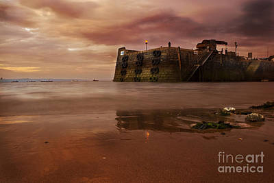 Tenby Photograph - The Low Tide by Angel  Tarantella