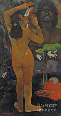 Painting - The Moon And The Earth by Paul Gauguin