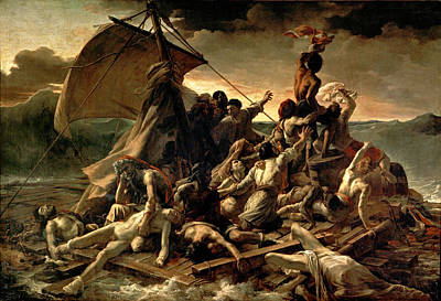 Photograph - The Raft Of The Medusa by Theodore Gericault