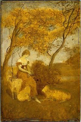 The Shepherdess Art Print by MotionAge Designs