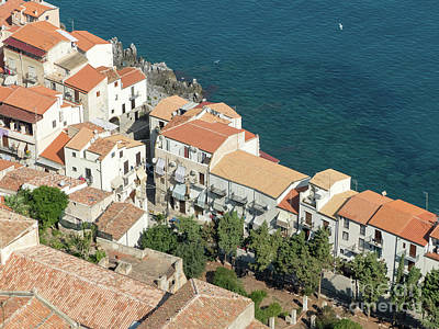 Photograph - The View From The Rocca De Cefalu by Rod Jones
