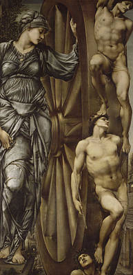 Classical Nude Painting - The Wheel Of Fortune  by Edward Burne-Jones