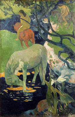 Amusement Ride Painting - The White Horse by Paul Gauguin