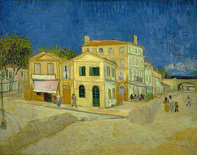 Streetscape Painting - The Yellow House by Vincent van Gogh