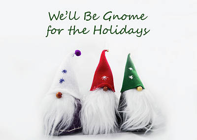 Pasta Al Dente - Three Holiday Gnomes 2A by Bob Corson