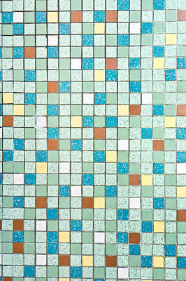 Grid Photograph - Tiles Background by Tom Gowanlock