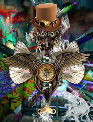 Mixed Media - Time Traveler Art by Marvin Blaine