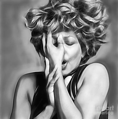 Tina Turner Collection Print by Marvin Blaine