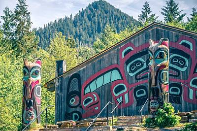 Photograph - Totems Art And Carvings At Saxman Village In Ketchikan Alaska by Alex Grichenko