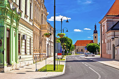 Photograph - Town Of Koprivnica Old Street And Park  View by Brch Photography
