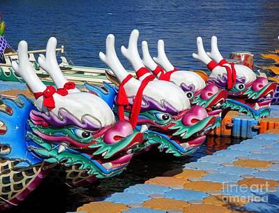 Photograph - Traditional Dragon Boats In Taiwan by Yali Shi