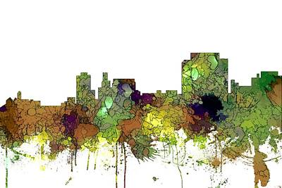 Digital Art - Trenton New Jersey Skyline by Marlene Watson