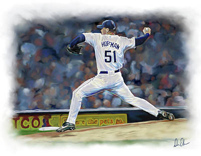 Photograph - Trevor Hoffman by Don Olea