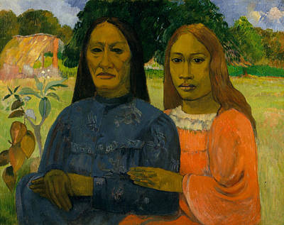 Painting - Two Women by Paul Gauguin