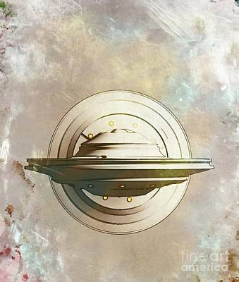 Firefighter Patents Royalty Free Images - Ufo Royalty-Free Image by Esoterica Art Agency