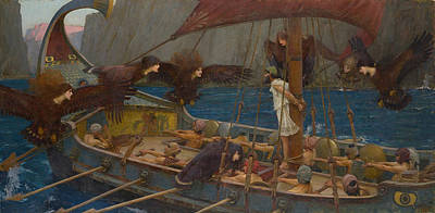 Painting - Ulysses And The Sirens by John William Waterhouse