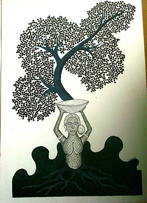 Gond Painting - Untitled by Mayank Shyam