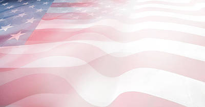 Digital Art - Usa Flags by Les Cunliffe