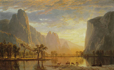Valley Of The Yosemite Art Print by Albert Bierstadt