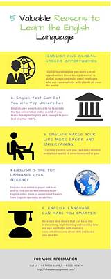 Accountancy Wall Art - Digital Art - 5 Valuable Reasons To Learn The English Language by Catherine Williams
