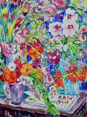 Painting - 5 Vases by Ingrid Dohm