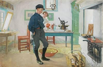 Glads Painting - Vet Du Vad Var God Och Glad by Carl Larsson