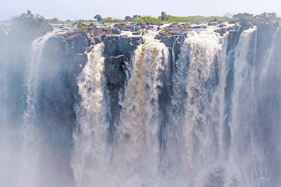 Abstract Male Faces - Victoria Falls in Zimbabwe by Marek Poplawski