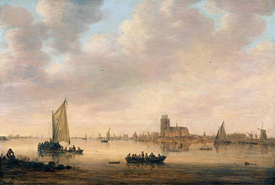 Painting - View Of Dordrecht From The Dordtse Kil by Jan van Goyen