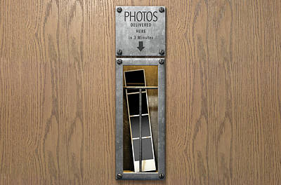 Advertising Digital Art - Vintage Photo Booth Pickup Slot by Allan Swart