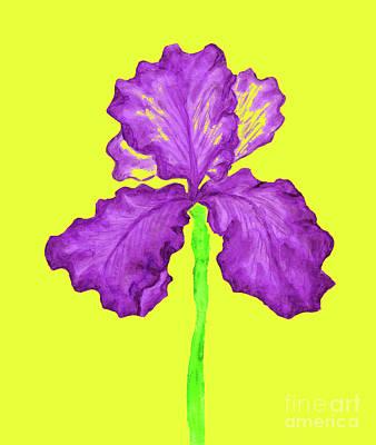Painting - Violet Iris, Painting by Irina Afonskaya