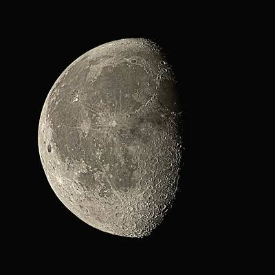 Moon Photograph - Waning Gibbous Moon by Eckhard Slawik