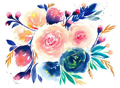 My Art Painting - Watercolor Flower Painting by My Art