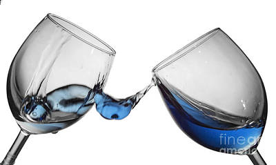 Motion Photograph - Wine Glass Fluid Motion by Sebastien Coell