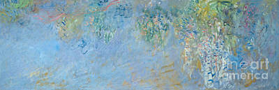 Vine Painting - Wisteria by Claude Monet
