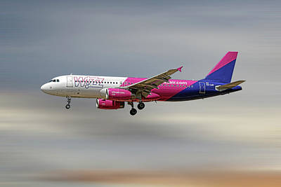 Mixed Media - Wizz Air Airbus A320-232 by Smart Aviation