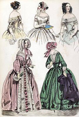 1842 Photograph - Womens Fashion, 1842 by Granger