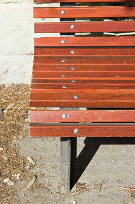 Decorative Benches Photograph - Wooden Bench by Tom Gowanlock