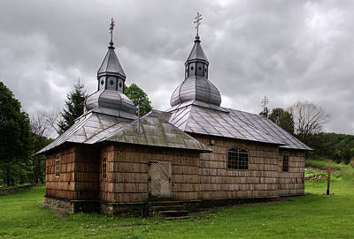 Photograph - Wooden Church In Olchowiec by Jaroslaw Blaminsky