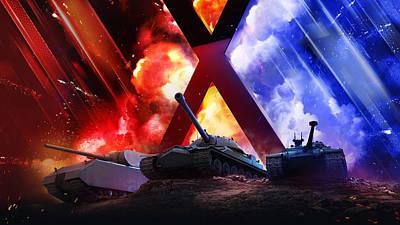 Bright Digital Art - World Of Tanks by Super Lovely