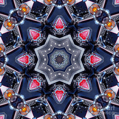 Digital Art - Valkyrie Kaleidoscope 1 by Wendy Wilton